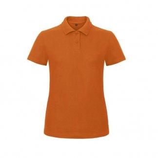 Polo femme personnalisable en coton biologique - 180g - Orange - PIQUE POLO