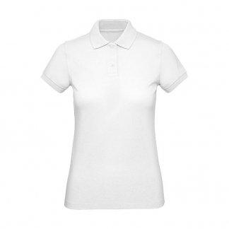 Polo femme promotionnel en coton biologique - 170g - Blanc - INSPIRE POLO