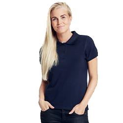 Polo femme publicitaire en coton biologique - bleu marine - CLASSIC LADIES