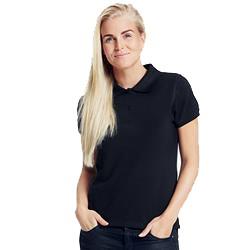 Polo femme publicitaire en coton biologique - noir - CLASSIC LADIES
