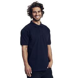 Polo homme publicitaire en coton biologique - bleu marine - CLASSIC MEN