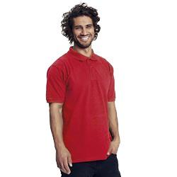Polo homme publicitaire en coton biologique - rouge - CLASSIC MEN