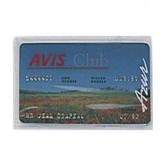 Porte-carte adhésif publicitaire en PVC transparent - avec carte
