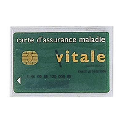 Porte Carte Adhésif Publicitaire En PVC Transparent Avec Carte Vitale