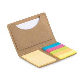 Porte-carte avec mémo en carton naturel personnalisé - présentation - FOLDNOTE