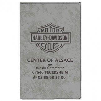 Porte-carte grise et papiers publicitaire 4 volets en PVC - Marquage 1 couleur