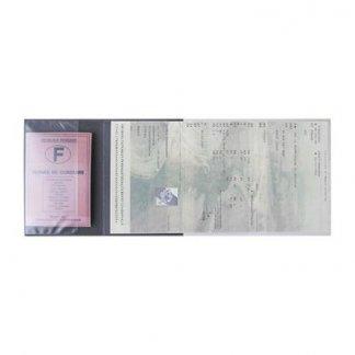 Porte-carte grise et papiers publicitaire 4 volets en PVC - Ouvert