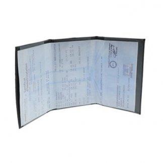 Porte-carte grise publicitaire 3 volets en PVC - 3 volets opaques