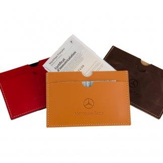 Porte-carte grise publicitaire en cuir recyclé