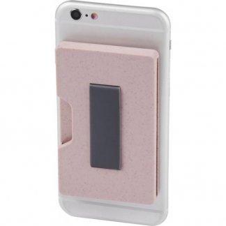 Porte-carte personnalisable anti RFID en paille de blé et polypropylène - sangle - GRASS