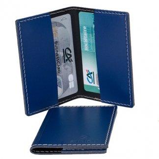 Porte-cartes publicitaire 2 poches en cuir recyclé