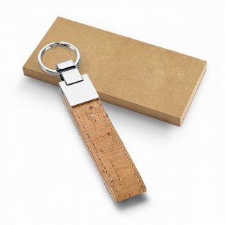 Porte-clés en liège et métal publicitaire - box - CORK