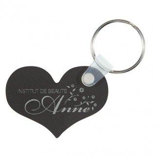 Porte-clés publicitaire à votre forme en plastique PMMA - Coeur
