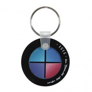 Porte-clés publicitaire à votre forme en plastique PMMA - Rond
