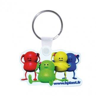 Porte-clés publicitaire à votre forme en polypropylène - forme personnage