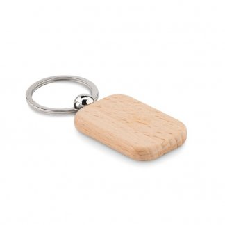 Porte-clés rectangle personnalisable en bois - POTY WOOD
