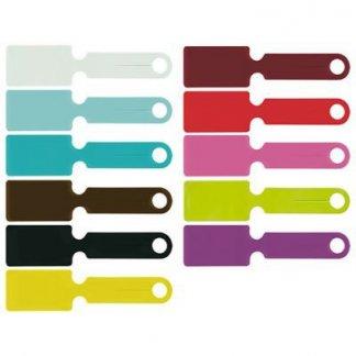 Porte étiquettes pour bagages publicitaire en PVC - Coloris PVC gomme vernie