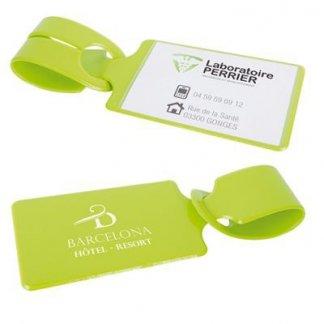 Porte étiquettes pour bagages publicitaire en PVC - Marquage 1 couleur