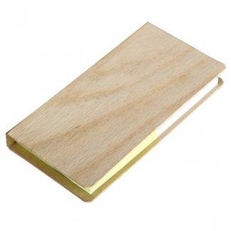 Porte notes adhésives publicitaire en bois naturel - NOTES NATURE