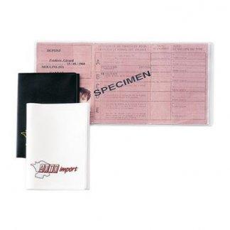 Porte-permis de conduire publicitaire 3 volets en PVC