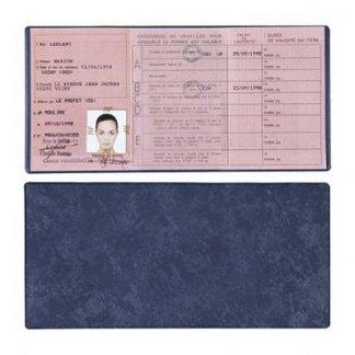 Porte-permis de conduire publicitaire 3 volets en PVC - Recto verso