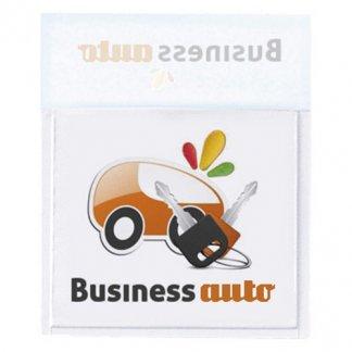 Porte-vignette assurance en PVC - Avec marquage avant et arrière