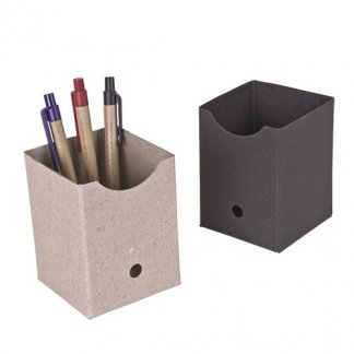 Pot à crayons publicitaire en carton recyclé - CUBILETE