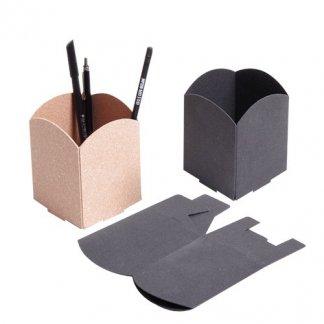 Pot à crayons publicitaire en cuir recyclé - PIEL