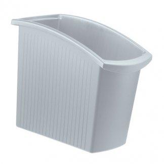 Poubelle de tri sélectif de bureau 18 litres - gris - MONDO