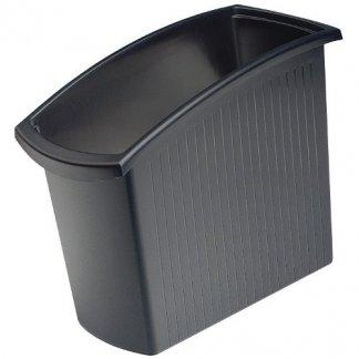 Poubelle de tri sélectif de bureau 18 litres - noir - MONDO