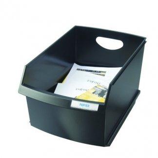 Poubelle de tri sélectif de bureau 25 litres - noir - LOGO DRIVE