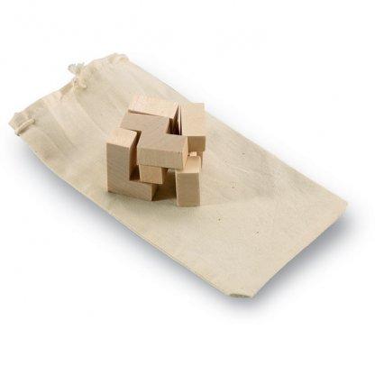 Puzzle Cube 7 Pièces Publicitaire En Bois TRIKESNATS
