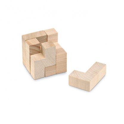 Puzzle Cube 7 Pièces Publicitaire En Bois Cube TRIKESNATS