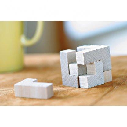 Puzzle Cube 7 Pièces Publicitaire En Bois En Situation TRIKESNATS