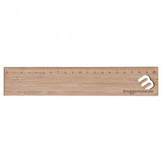 Règle 20cm publicitaire à votre forme en bambou - gravure - FORMTRACE