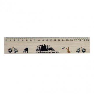 Règle 20cm publicitaire en bois de hêtre certifié - CERTITRACE