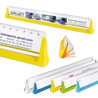 Règle Culbuto promotionnelle 30 cm en plastique ABS, SAN et métal - Toutes couleurs