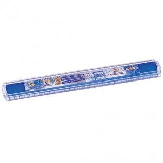 Règle incassable publicitaire 30 cm en polycarbonate - Bleu