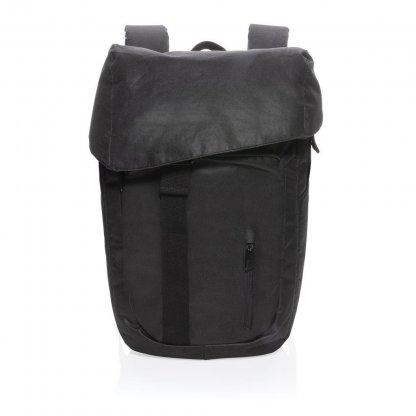 Sac à Dos En Bouteilles Plastiques Recyclées 17L Noir Face OSAKA