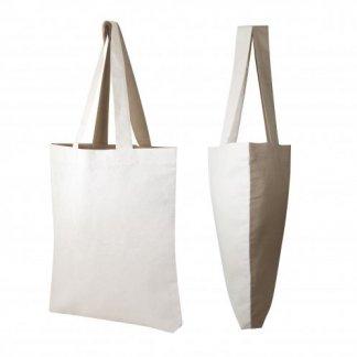 Sac boutique bicolore avec fond en coton recyclé - 180g - 40x44x5cm - VISVERSA