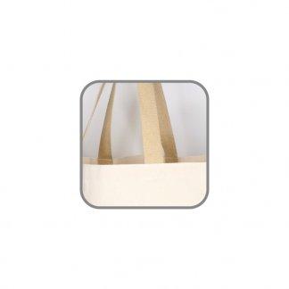 Sac cabas personnalisé normes alimentaires en toile de jute et coton  - 42x33x19cm - anses - HOWRAH