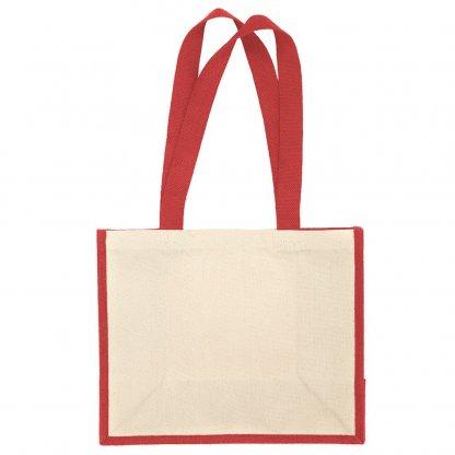 Sac Cabas Promotionnel En Toile De Jute Et Coton 30x37x18cm Rouge HENLEY