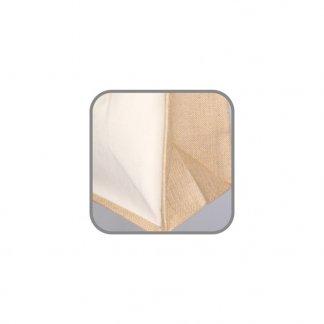 Sac cabas promotionnel normes alimentaires en toile de jute et coton - 30x30x20cm - côté - KALYAN
