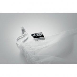 Sac filet à provisions personnalisable en bouteilles plastiques recyclées - Etiquette - VEGGIE RPET