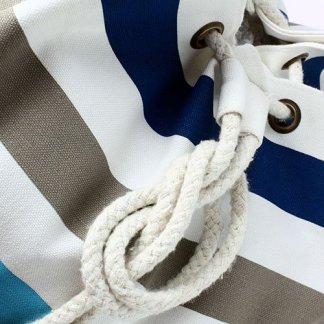 Sac marin publicitaire en coton biologique - zoom corde - BIOMARINE