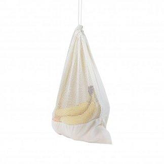 Sac pochon personnalisable filet à cordon en coton biologique - 140g - 30x40cm - cordons serrés - BIOPOCH