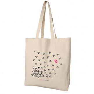 Sac shopping avec soufflet publicitaire en coton naturel - 160g - Naturel - 38x42x10cm - BOMBAY
