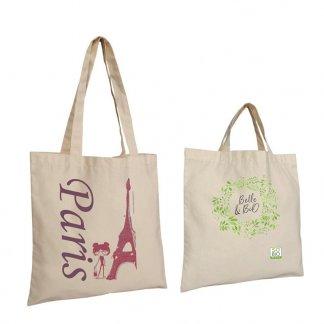 Sac shopping en coton naturel - 130g - 38x42cm - KANPUR