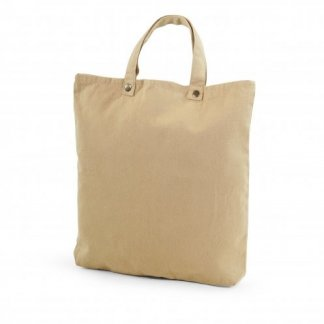 Sac shopping et sac à dos publicitaire en coton et coton recyclé - 260g - 38x40cm - face - TOTEBACK