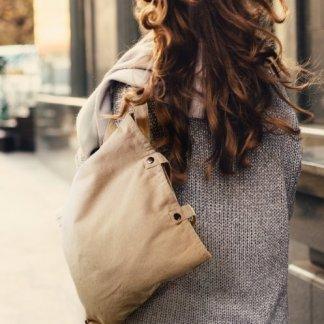 Sac shopping et sac à dos publicitaire en coton et coton recyclé - 260g - 38x40cm - porté dos - TOTEBACK